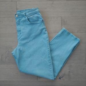 Retro Gloria Vanderbilt Mom Blue Jeans, 14